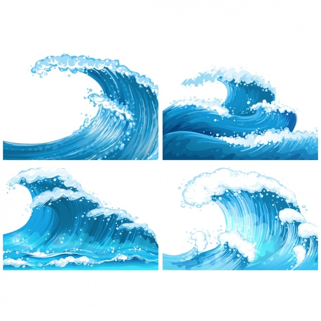 waves blue