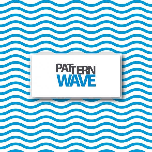 Blue waves pattern design Free Vector