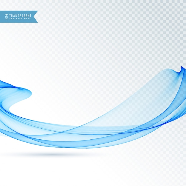 Blue wavy abstract shape Free Vector