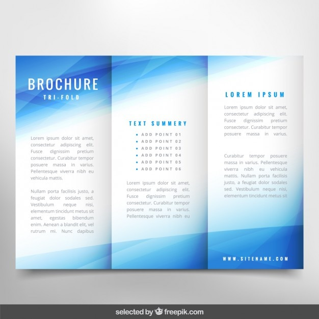 Blue wavy brochure vector free download for Free templates for brochures and flyers