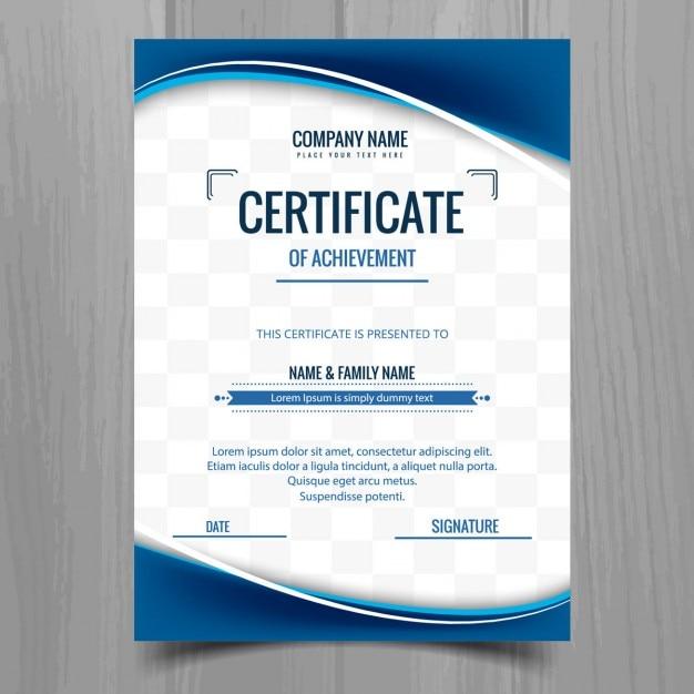 Blue wavy certificate Vector | Free Download