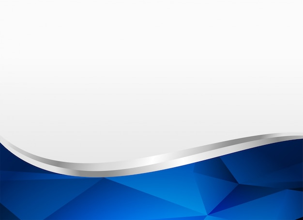 blue wavy shape background layout vector
