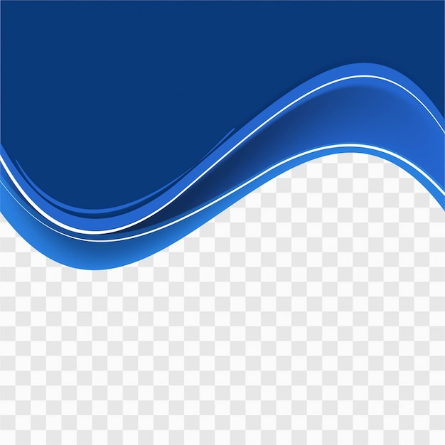Blue Wavy Shape On Transparent Background Vector Free