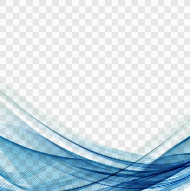 Blue wavy shapes Vector | Free Download