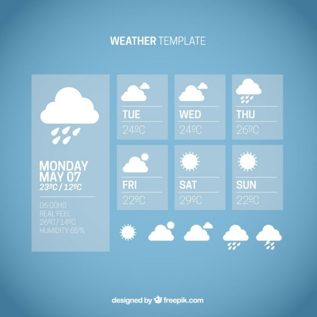Blue weather template Vector | Free Download