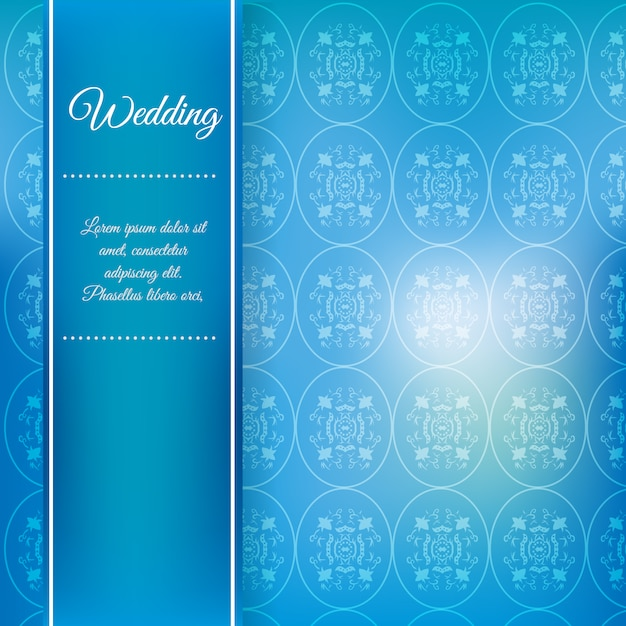 Blue Wedding Background Free Vector