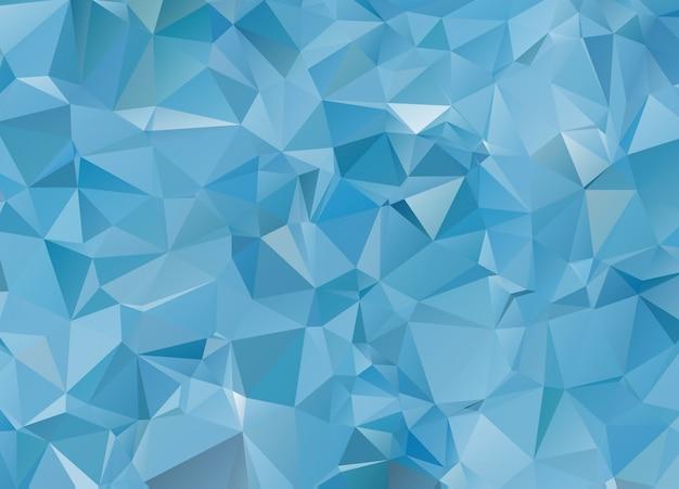 Blue white light polygonal mosaic background, vector illustration Premium Vector