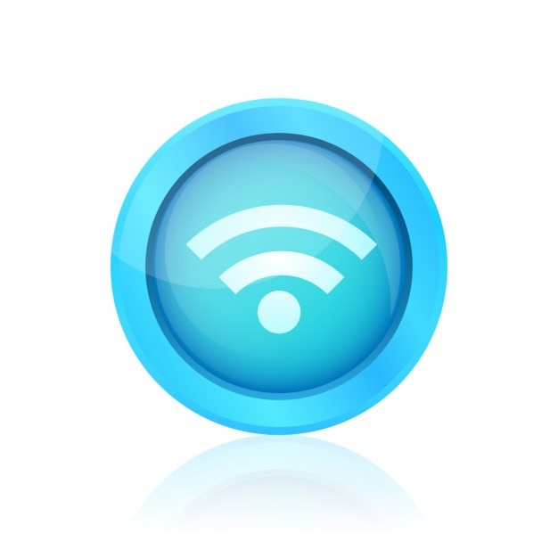 Blue wifi button Vector | Free Download