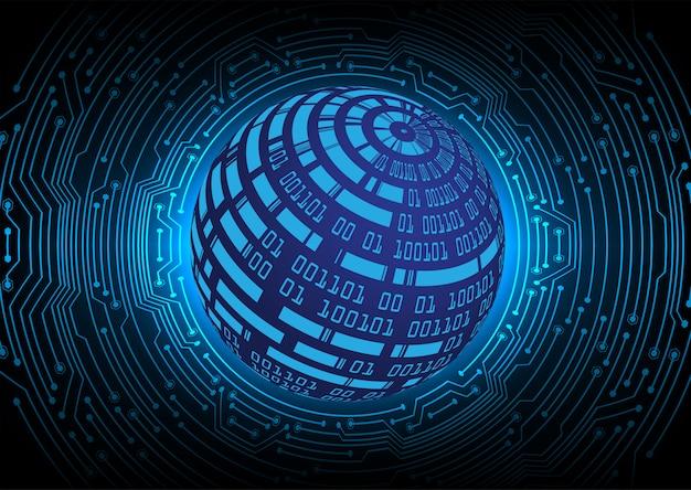 Blue world cyber circuit future technology concept background Premium Vector