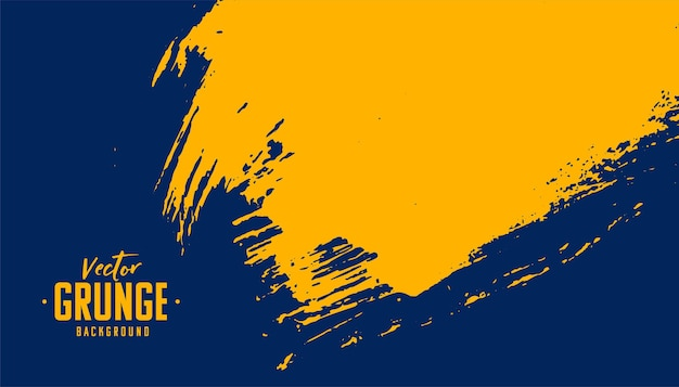 Blue and yellow abstract grunge texture background design Free Vector