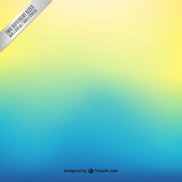 Blue to yellow gradient background Free Vector