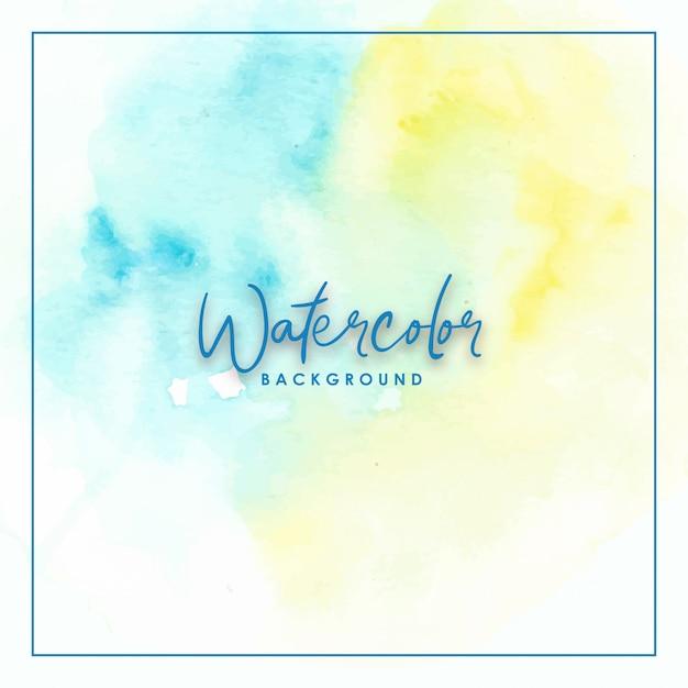 Blue and yellow splash gradient handmade watercolor Premium Vector