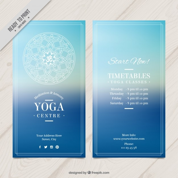 Yoga Flyer. Minimalist Yoga Flyer Template Minimalist Yoga Flyer