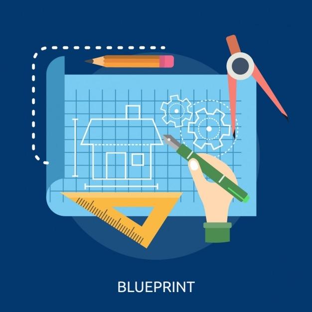 Blueprint background design vector free download blueprint background design free vector malvernweather Images
