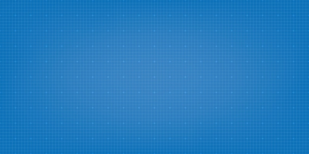 Blueprint digital paper background. grid background Premium Vector