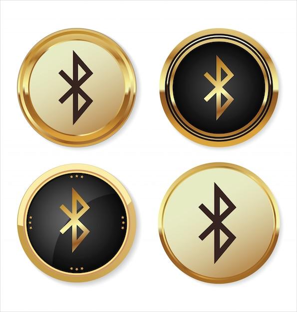 Bluetooth icon Premium Vector