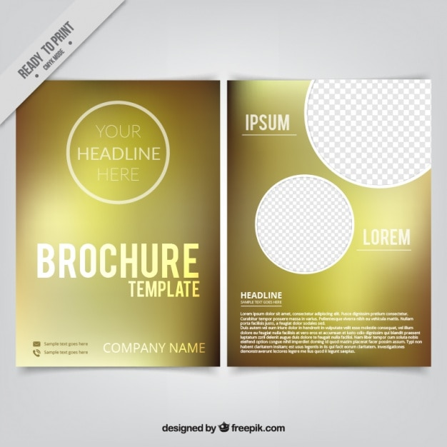 blur simple brochure with circles vector free download