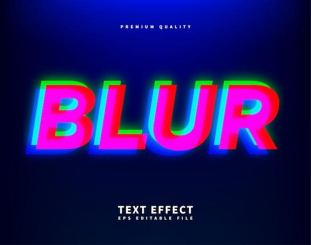 Blur стиль шрифта, современные искаженные буквы глитч Premium векторы
