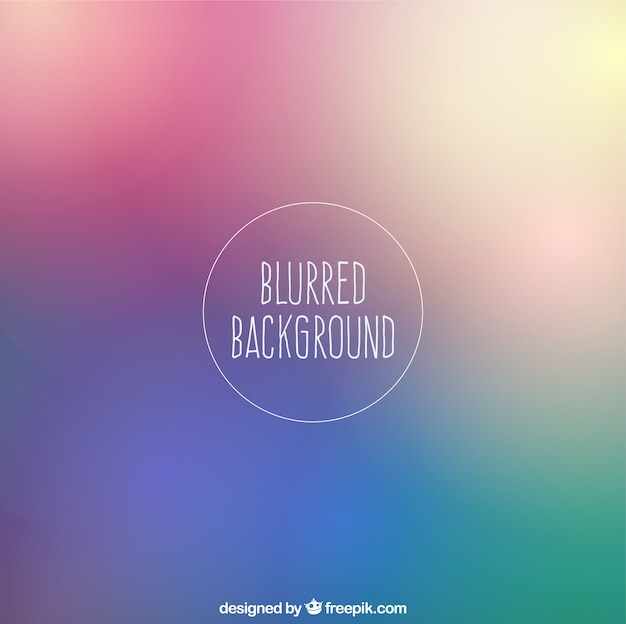 Blurred background in colorful style Free Vector
