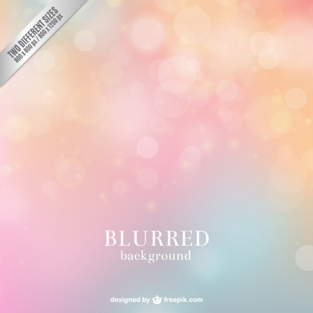 Blurred background in pastel tones Free Vector