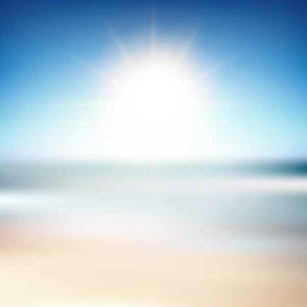 blurred background of a beach scene vector free download