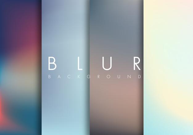 Blurred background set Premium Vector