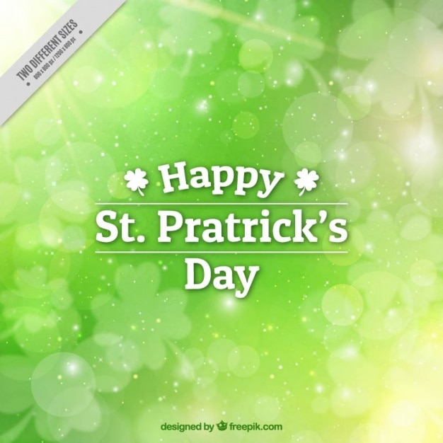 Blurred background for st patrick's day Vector | Free Download