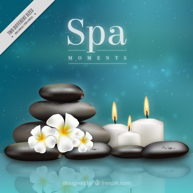 Blurred background with spa elements Free Vector