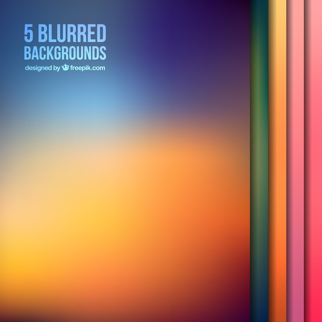 Blurred backgrounds collection Free Vector