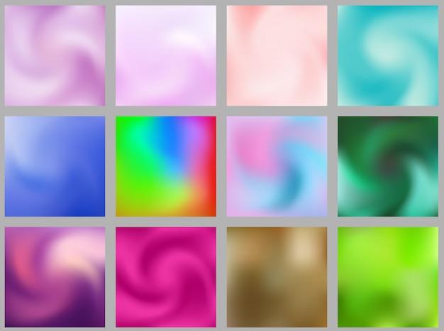 Blurred backgrounds Premium Vector