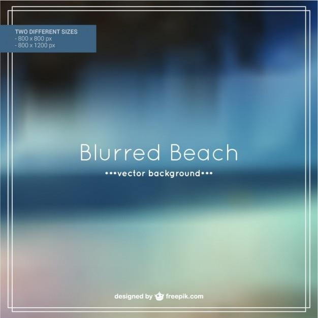 Blurred beach background