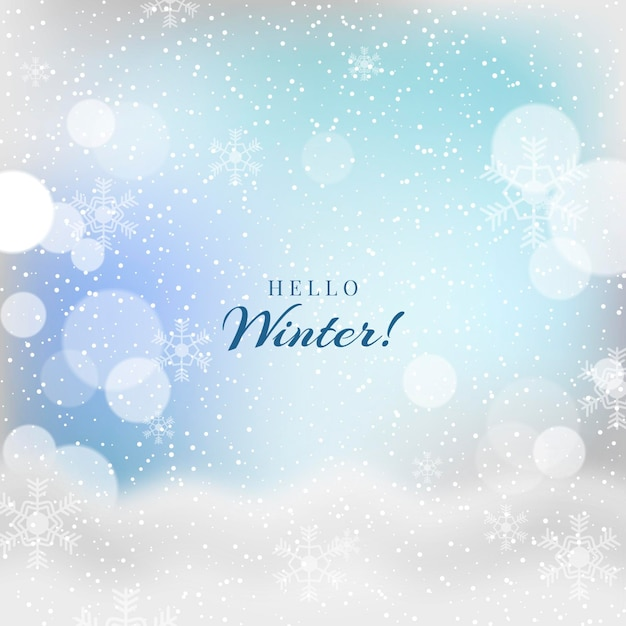 Размытые красивые привет зимние надписи Premium векторы
