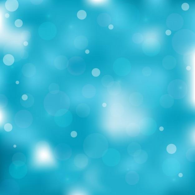 Blu sfondo sfocato, con effetto bokeh Vettore gratuito