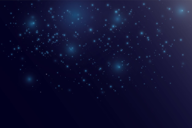 Blurred bokeh light on dark background. christmas and new year holidays template. Premium Vector