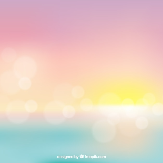 Blurred bokeh sunset background