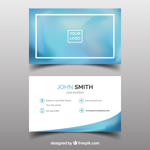 Blurred business card Free Vector