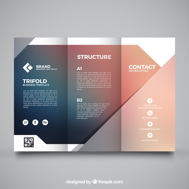 Blurred business trifold template vector free download blurred business trifold template free vector accmission Image collections