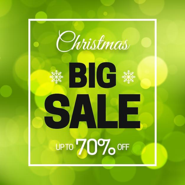 Размытые рождественские продажи концепции Бесплатные векторы