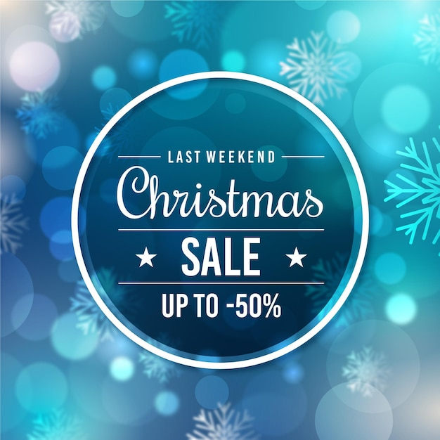 Blurred christmas sale Free Vector