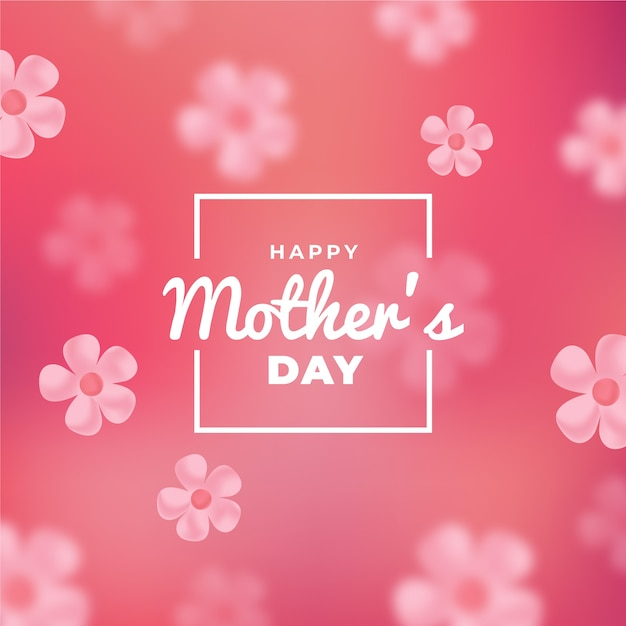 Blurred design mother's day Free Vector