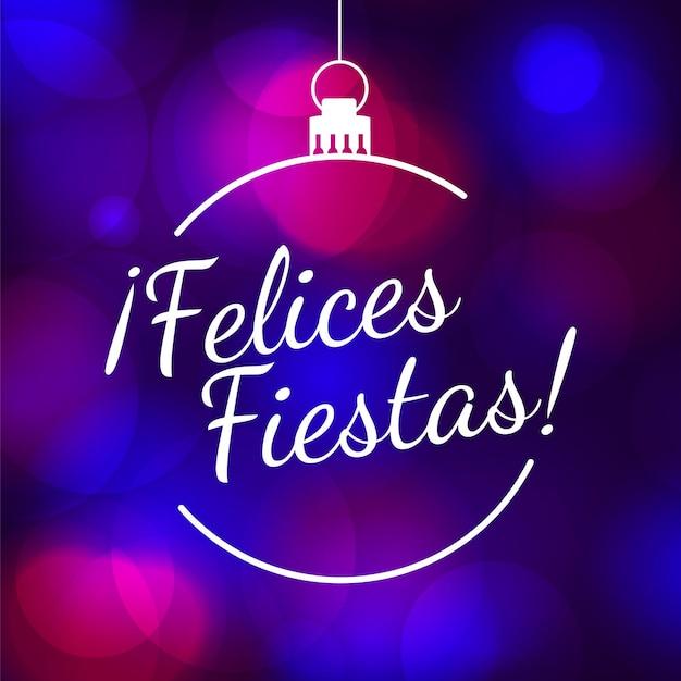 Размытые концепции праздников felices Бесплатные векторы