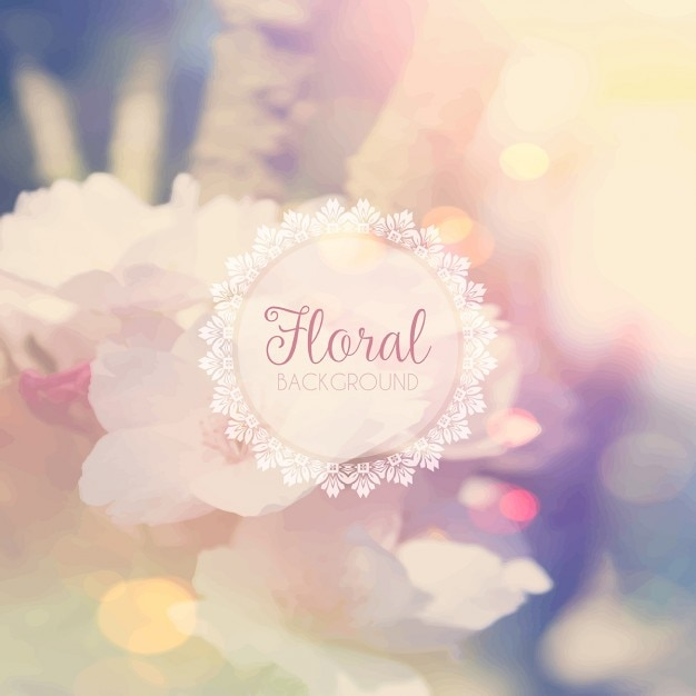 Blurred Floral Background With Bokeh Effect Vector