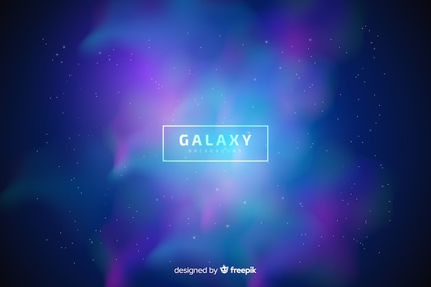 Blurred galaxy background Free Vector