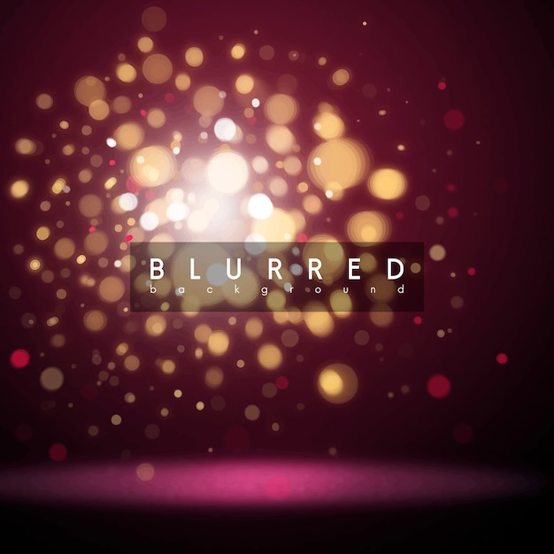 Blurred glowing background effect vector Free Vector