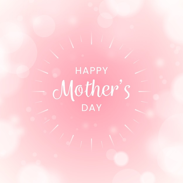 Blurred happy mother's day Free Vector