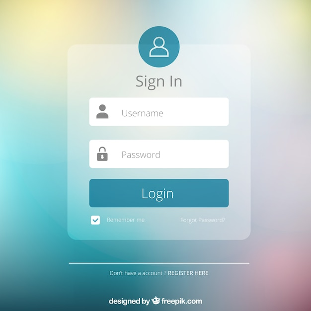 Login Form Design Free Download