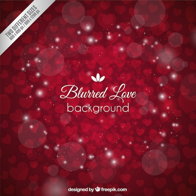 Blurred love background