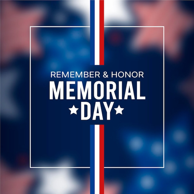 Blurred memorial day concept Free Vector