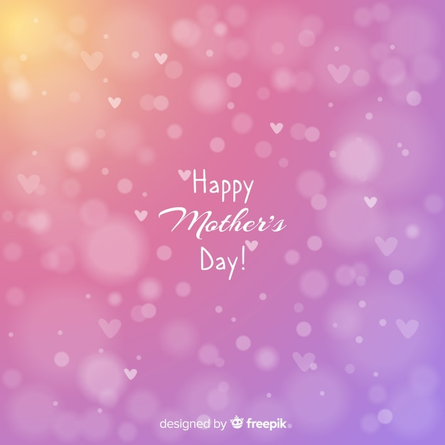 Blurred mother's day background Free Vector
