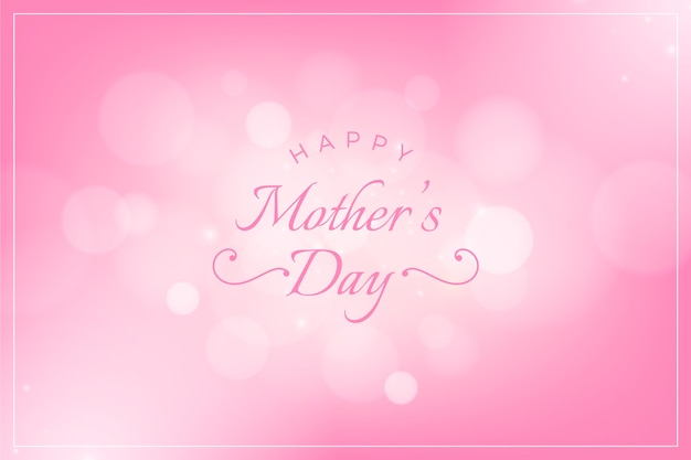 Blurred mother's day concept Free Vector